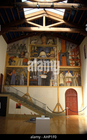 Diego rivera murals wall paintings in the secretary of for Diego rivera mural in san francisco