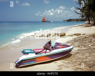 Barbados Holetown public beach - Stock Photo