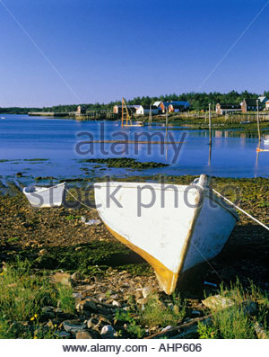 Woodwards Cove on Grand Manan Island in the Bay of Fundy in New Brunswick Canada - Stock Photo