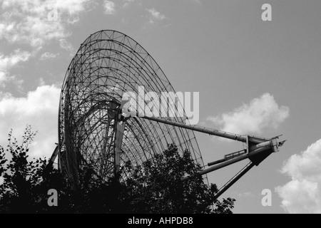 Large satelite dish Europa Park Rust Germany - Stock Photo