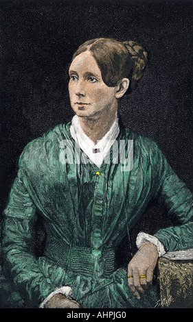 Dorothea Dix. Hand-colored woodcut - Stock Photo