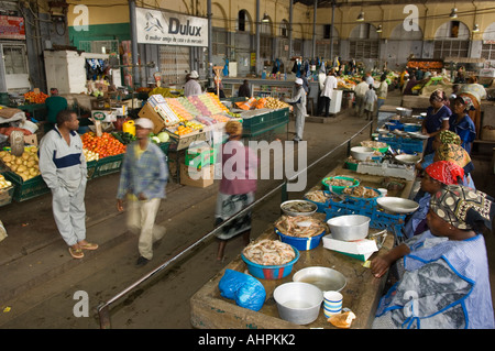Mercado Central is housed in a building dating to 1901, Maputo, Mozambique - Stock Photo