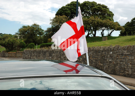 English flag on automobile - Stock Photo