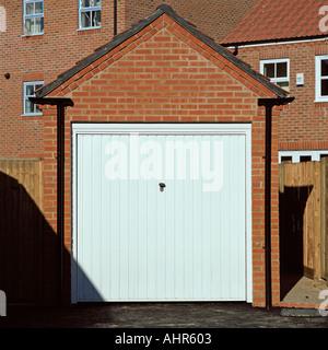 Closed garage door - Stock Photo