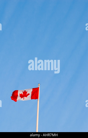 A Canadian Flag on a flagpole Victoria BC - Stock Photo