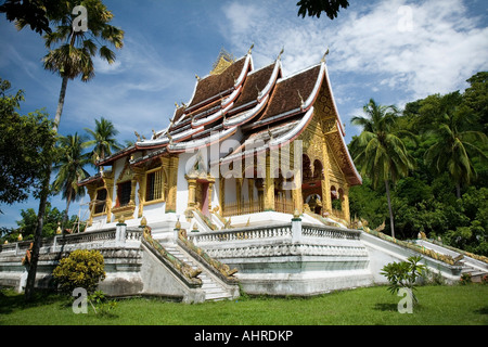Sala Pha Bang pavillion in Royal Palace Museum compound Luang Prabang Laos - Stock Photo