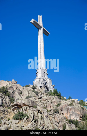 Monument at the Valle de los Caidos near Madrid - Stock Photo