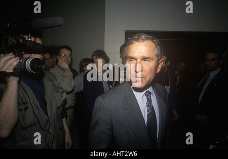 George W Bush at the New Hampshire Presidential Candidates Youth Forum January 2000 - Stock Photo