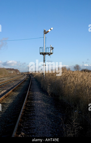 Railway signal tower - Stock Photo