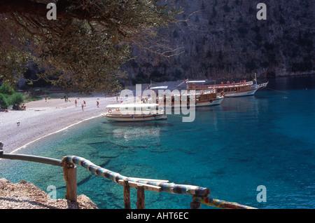 Butterfly valley Oludeniz Turkey - Stock Photo