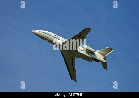 Three Engined High Tail Dassault Falcon 900B F-GYCP - Stock Photo