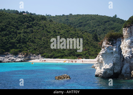 Voutoumi Beach, Antipaxos, Ionian Islands, Greece - Stock Photo