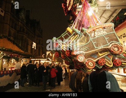 Christmas Markets at Alberts Square Manchester Uk - Stock Photo