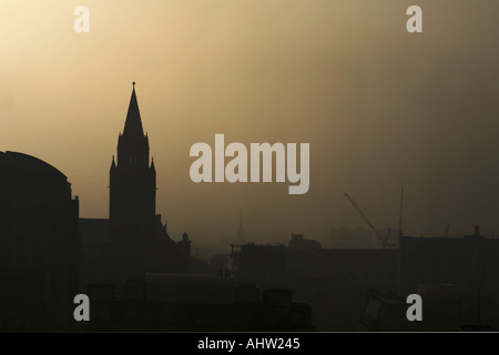 Manchester City Centre with Town Hall UK - Stock Photo
