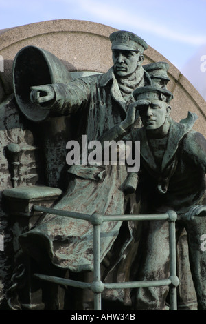 Detail from War Memorial at Port Sunlight Wirral UK - Stock Photo