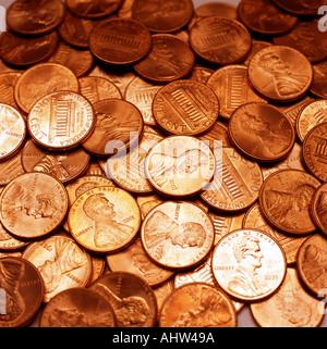Coins Pennies - Stock Photo