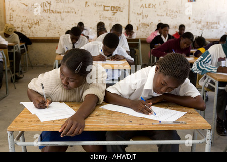 School children in Namibia, Africa - Stock Photo
