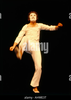 famed french mime artist marcel marceau - Stock Photo
