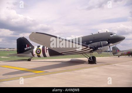 The legendary Battle of Britain Douglas C-47A Skytrain (DC-3A) - Stock Photo
