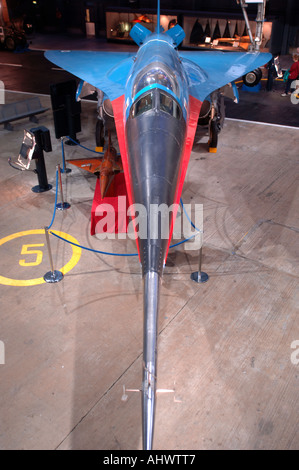 British Aircraft Corporation 221 Fairey Delta 2 Fleet Air Arm Museum Yeovilton Somerset.  XAV 1396-307 - Stock Photo