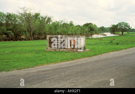 Stonewall Texas USA President Lyndon B Johnson State Park and Historic Site LBJ Ranch Sign - Stock Photo