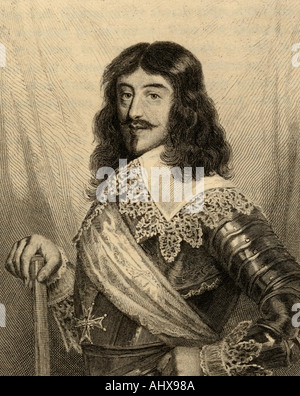 Louis XIII, 1601 -1643.   King of France from 1610 to 1643 and King of Navarre (as Louis II) from 1610 to 1620. - Stock Photo