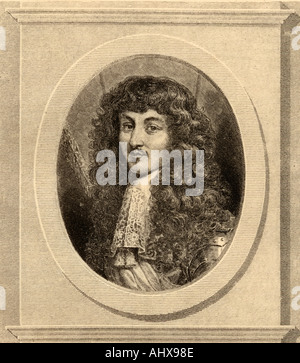 Louis XIV, Louis Dieudonne, aka Louis the Great and the Sun King, 1638 - 1715. King of France and Navarre. - Stock Photo