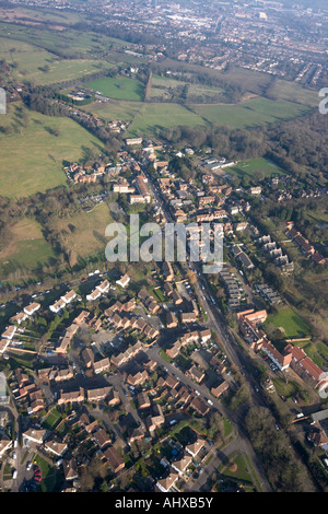 High level oblique aerial view north of Elstree London WD6 England UK January 2006 - Stock Photo