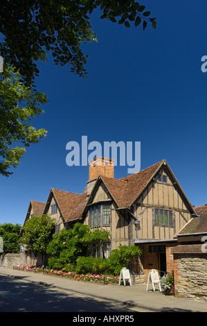 Halls croft Shakespeares daughters house Stratford on Avon England - Stock Photo