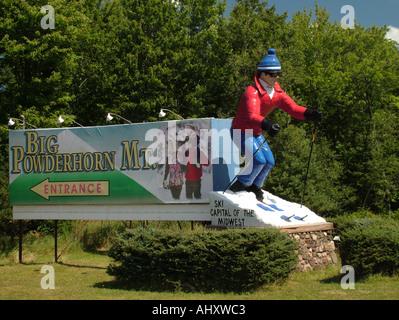 AJD45600, Big Powderhorn Mountain, MI, Michigan - Stock Photo
