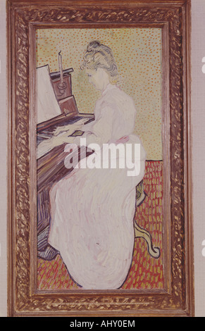 'fine arts, Gogh, Vincent van, (1853 - 1890), painting, 'mademoiselle on the piano', 1890, oil on canvas, museum of fine arts,