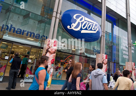 Boots the chemist store on Oxford Street London - Stock Photo