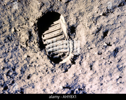 NEIL ARMSTRONG left his footprint on the Moon 20 July 1969 - Stock Photo