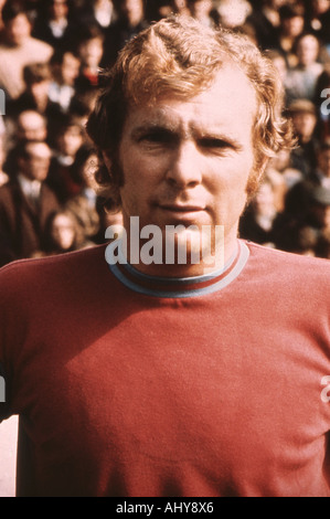 BOBBY MOORE as Captain of the England football team in 1966 - Stock Photo