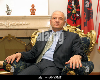 Fatmir Sejdiu - the President of Kosovo, a Serbian province under UN administration since the 1999 Kosovo War - Stock Photo
