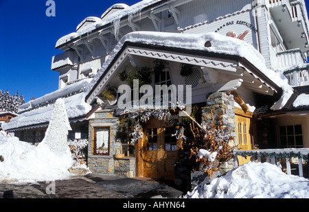 Hotel Restuarant Le Chabichou Courchevel 1850 French Alps - Stock Photo
