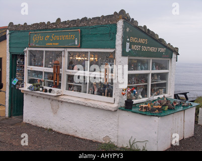 Gift shop - the most southerly shop in England- Lizard Point Cornwall England - Stock Photo