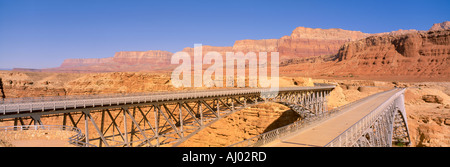 Bridge Across the Colorado River Lee s Ferry Marble Canyon Arizona - Stock Photo