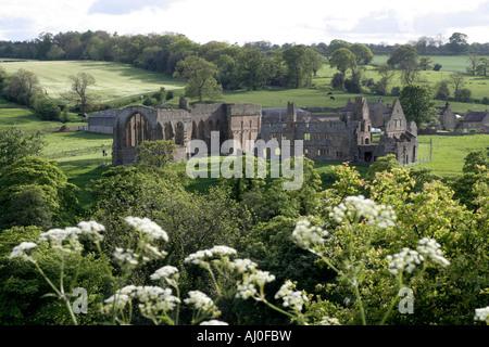 Egglestone Abbey near Barnard Castle County Durham england uk gb - Stock Photo