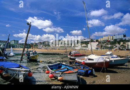 The beach and foreshore at Viking Bay Broadstairs Kent - Stock Photo