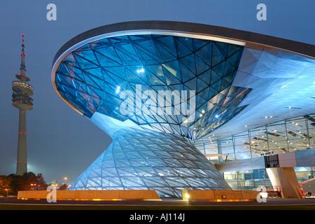 Bavaria Munich BMW World new distribution center TV tower - Stock Photo