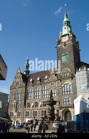 Wuppertal-Elberfeld´s Town Hall and Old Market Square - Stock Photo