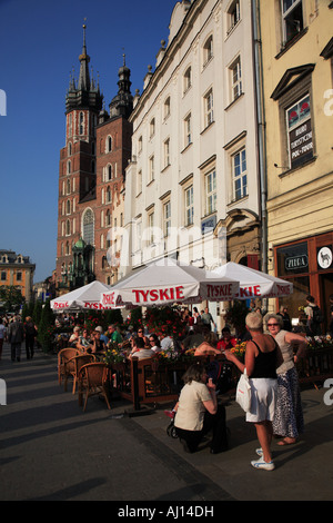 Café on Market Square Cracow - Stock Photo