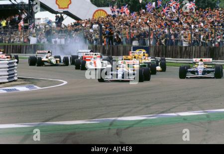 1992 British Grand Prix Start at Silverstone - Stock Photo