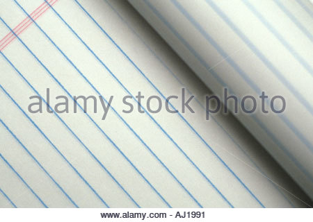 close up of a notepad - Stock Photo