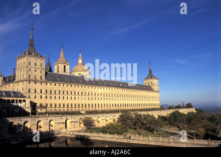 San Lorenzo de El Escorial outside Madrid Spain - Stock Photo