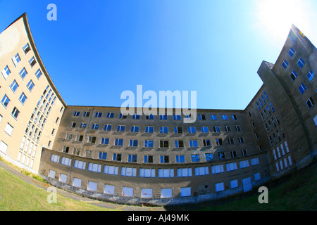 kdf spa Colossus of Prora of the Third Reich on the island Ruegen Germany Ruegen Prora - Stock Photo