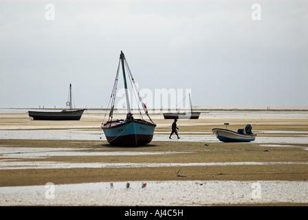 Beach at Inhaca island near Maputo Mozambique Africa - Stock Photo