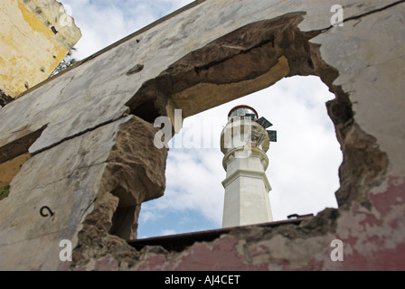 Lighthouse at Inhaca island near Maputo Mozambique Africa - Stock Photo