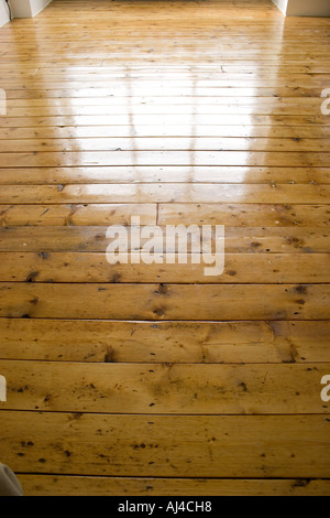 Polished floorboards - Stock Photo
